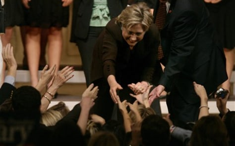 IMAGE: Presidential hopeful Hillary Clinton