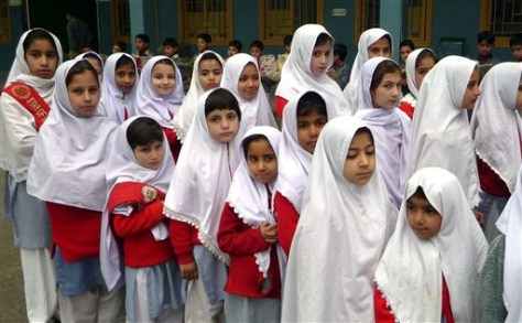 Image: Girls in Pakistan's Swat valley.