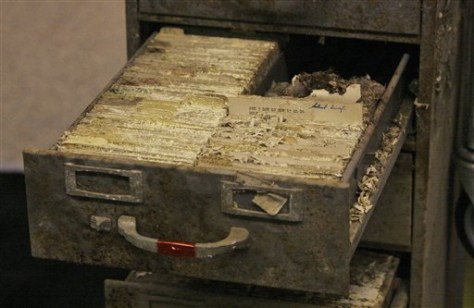 Image: Deteriorated cemetery files