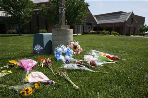 Image: Memorial at Reformation Lutheran Church in Wichita, Kan.