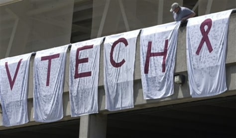 Image: Virginia Tech shooting baseball