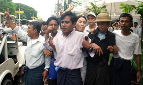 Image: Myanmar dissidents