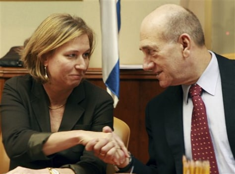 Image: Olmert and Livni