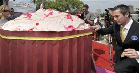 Image:World's largest cupcake