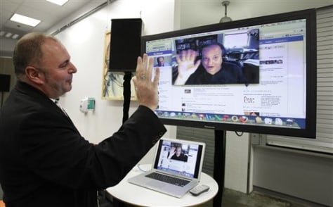 Image: Jonathan Rosenberg and Mike Barnes of Facebook