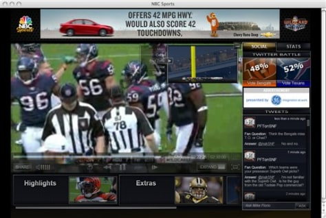 Image: Football game on computer screen