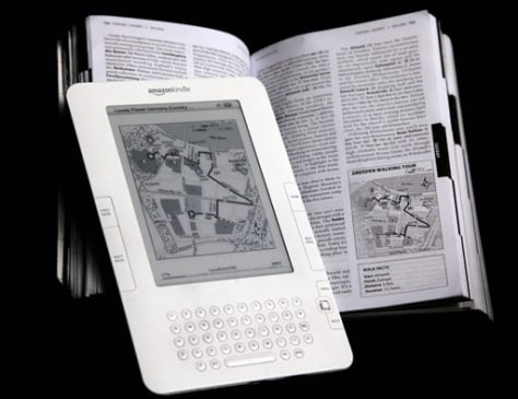 Image: Kindle and book