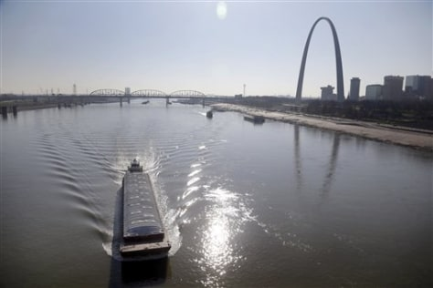 Image: Barge on river