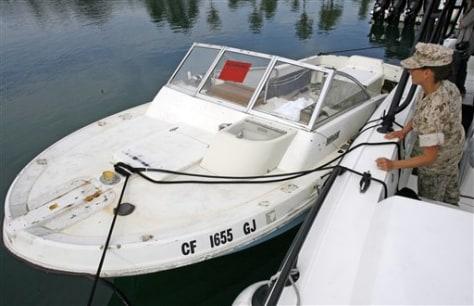 Image: Smuggling boat