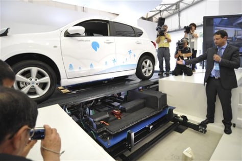 Image: Electric vehicle switching station