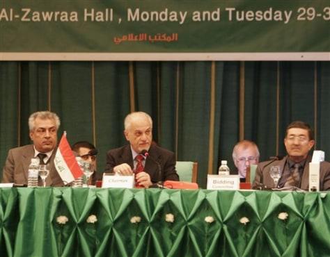 Image: Iraqi Oil Minster Hussein al-Shahristani