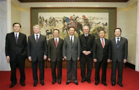 Image: Envoys to North Korea talks