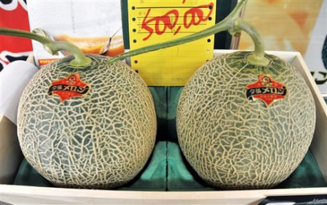 Image: Japan's pricey melons