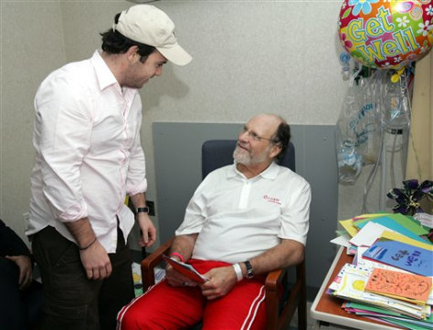 IMAGE: CORZINE IN HOSPITAL