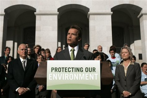 IMAGE: SCHWARZENEGGER ANNOUNCES LAWSUIT