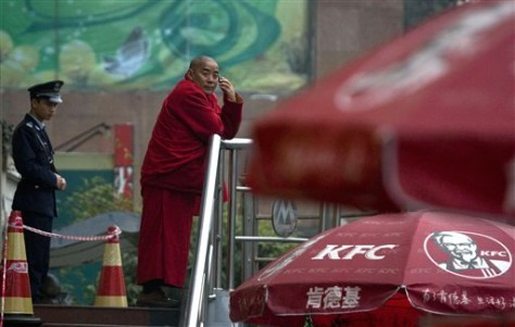 Image: Tibetan monk in Chengdu, China