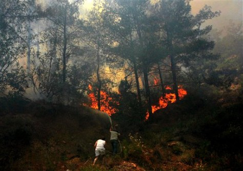 IMAGE: FOREST FIRE IN CYPRUS
