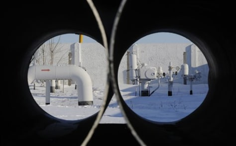 Image: Russia's natural gas pipeline