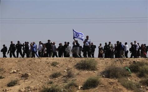 Image: Demonstrators in Rahat