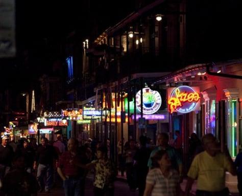 Image: Bourbon Street crowd
