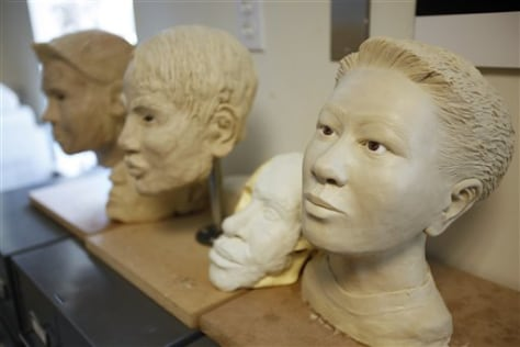 Image: Age-progression sculptures of children