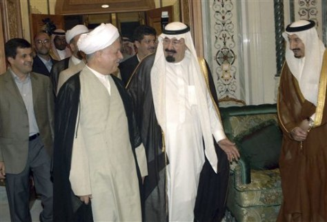 IMAGE: SAUDI KING AND RAFSANJANI