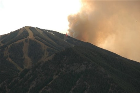 IMAGE: SMOKE FROM FIRE AT BALDY MOUNTAIN
