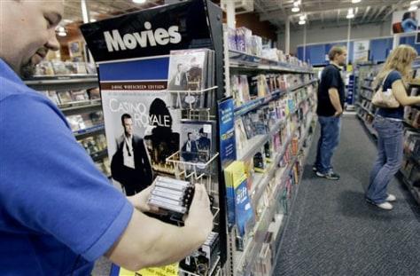 Image: Movies on sale