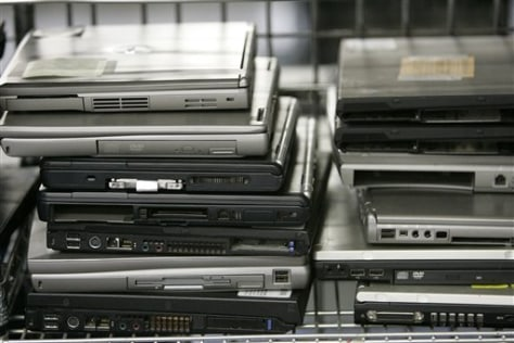 IMAGE: DISCARDED LAPTOPS
