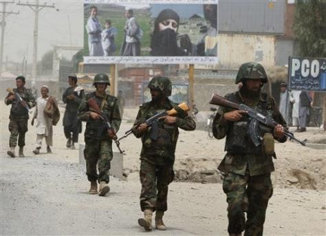 Image: Afghan soldiers