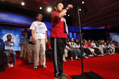 Image: Kun Jacky Qiao, spelling bee participant