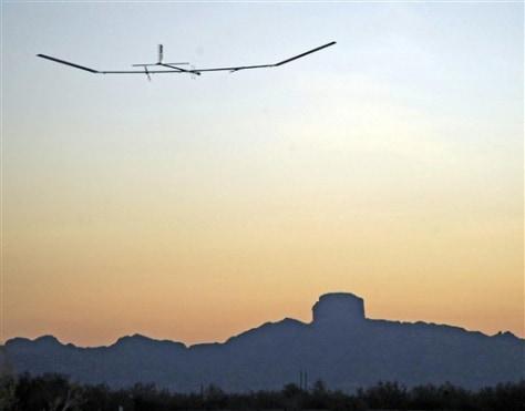 Image: Britain US Solar Plane