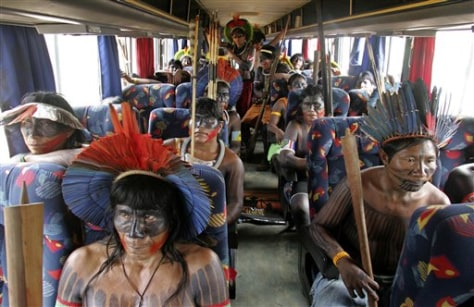 IMAGE: NATIVES ON BUS GOING TO PROTEST