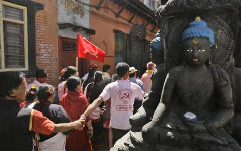 IMAGE: NEPAL COMMUNISTS CELEBRATE