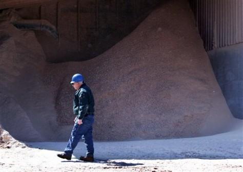 Image: Sawdust storage