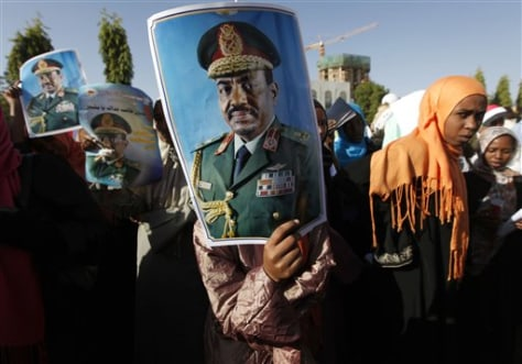 Image: Protesting the arrest warrant of Sudan President Omar al-Bashir