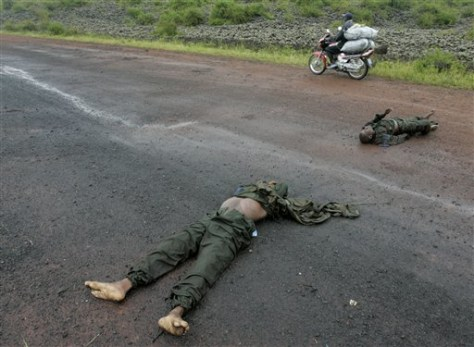Image: Bodies of two soldiers