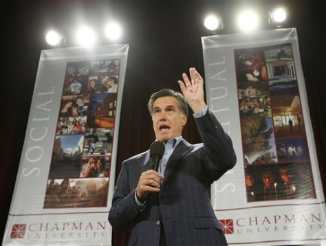 IMAGE: Presdidential hopeful Mitt Romney