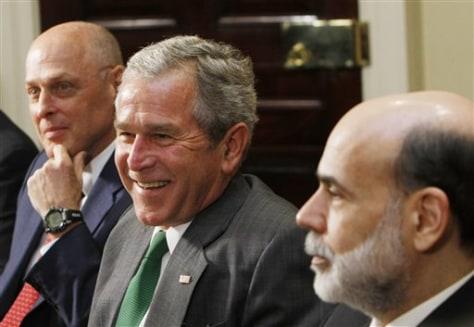Image: Paulson, Bush, Bernanke