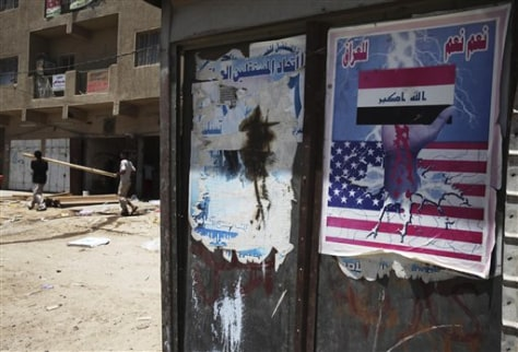 Image: Anti-American poster in Baghdad