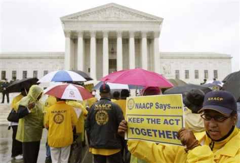 Image: NAACP outside Supreme Court