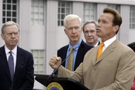 IMAGE: Gov. Schwarzenegger, R-Calif.