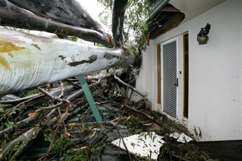 Image: Home crushed by tree