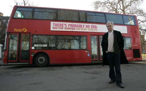 Image: Atheist ad on London bus