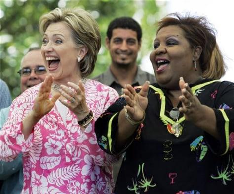 Image: HIllary Clinton in Puerto Rico