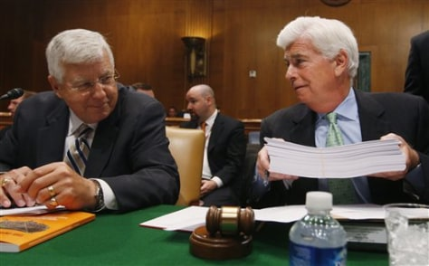 Image: Sen. Christopher Dodd, D-Conn., and Sen. Mike Enzi, R-Wyo.