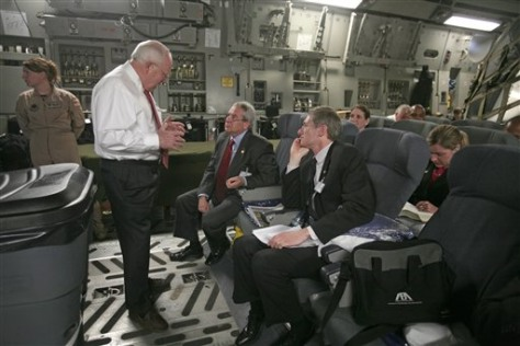 IMAGE: CHENEY INSIDE C-17 AIRCRAFT