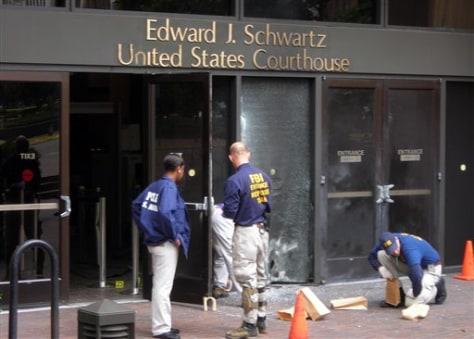 Image: Courthouse explosion