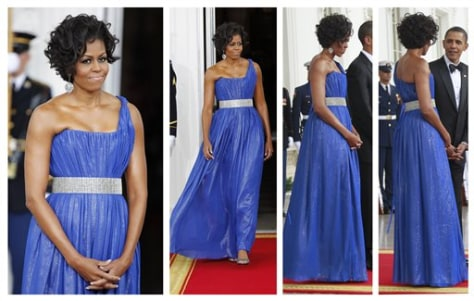 Image: Michelle Obama at state dinner