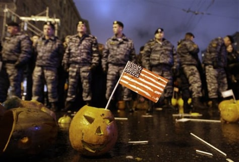 Image: Pumpkin at anti-American protest